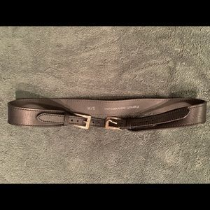 French Connection double buckle black belt